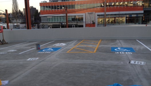 New Construction Line Painting in Vancouver
