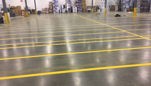 Warehouse Line Painting in Vancouver